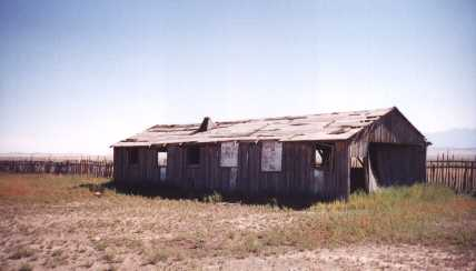 wooden stakes were used to make the fence